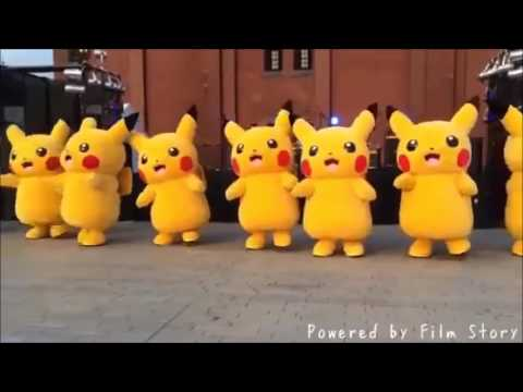 pikachu dances to foster the people