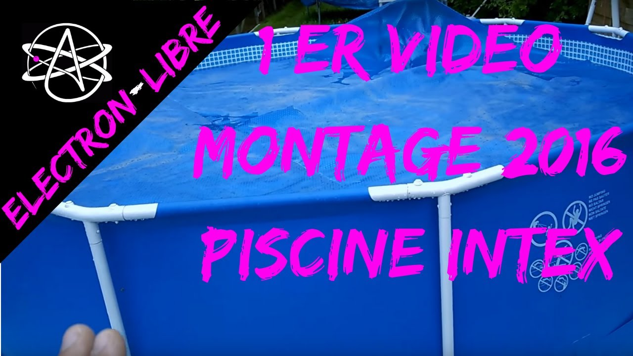 Installation piscine tubulaire intex youtube for Sur quoi poser une piscine tubulaire