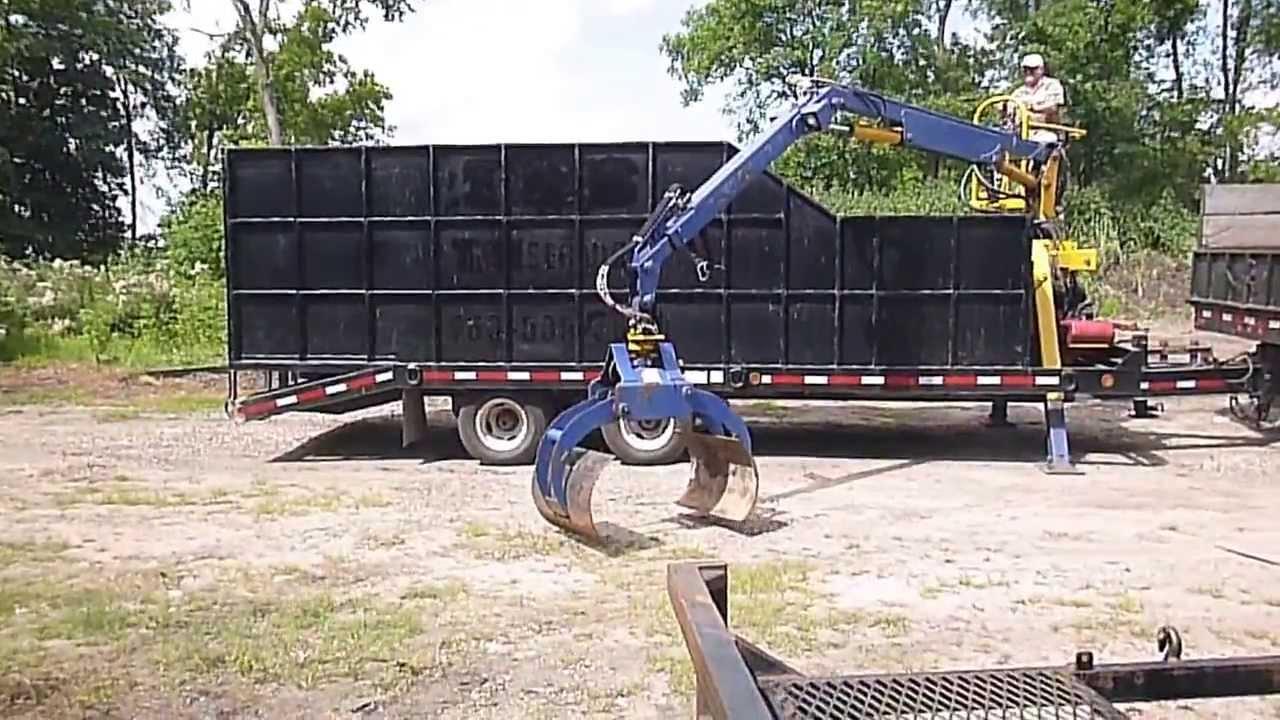 5th Wheel Gooseneck Hitch >> 2001 Towmaster Trailer w/log Grapple - YouTube