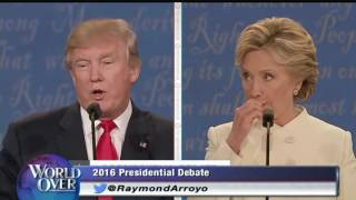 World Over - 2016-10-20 – The Final Presidential Debate, Larry Kudlow with Raymond Arroyo