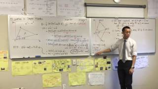 HSC Question on Complex Numbers, Vectors & Polynomials (2 of 2: Combining results)