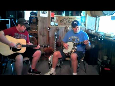 """""""Head Over Heels"""" Recording King RK R-25 banjo and RD-316 guitar"""