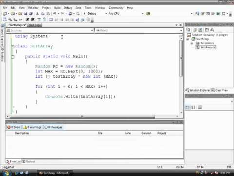 08 - Using Methods - Array Sort Pt 2
