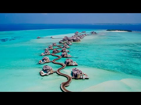 Maldives 4K  | Beautiful relaxing music + surreal drone footage