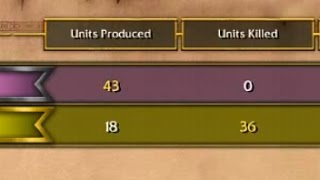 Warcraft 3. 1 vs 1. No unit has been lost.