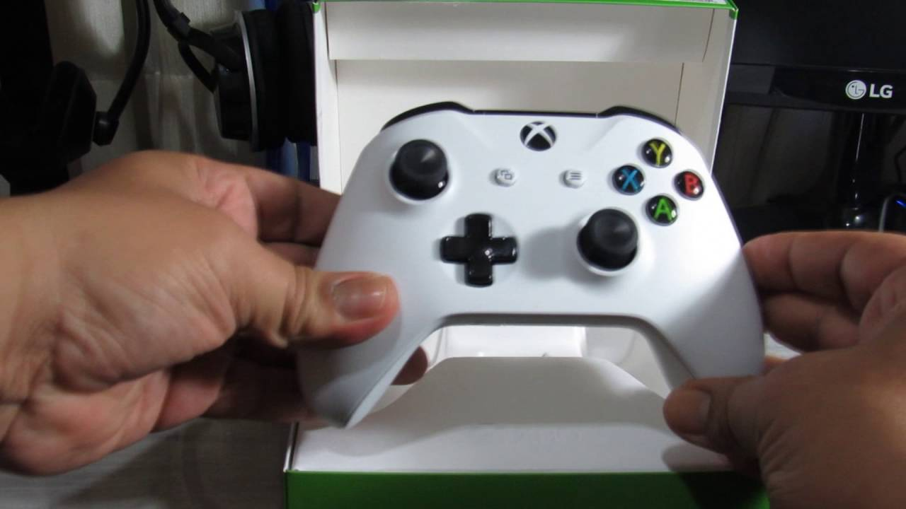 UNBOXING DO CONTROLE DO XBOX ONE S BRANCO ORIGINAL COM BLUETOOTH