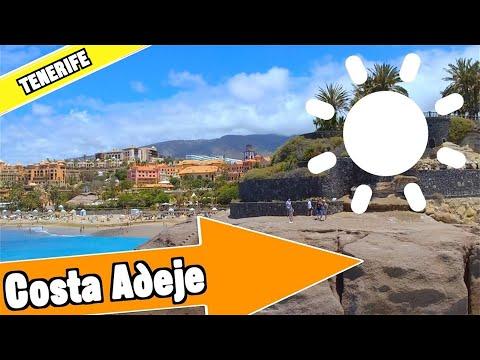 Costa Adeje Tenerife Spain: Tour of beach and resort