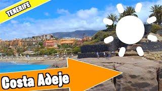 Costa Adeje Tenerife Spanje: Tour van strand en resort