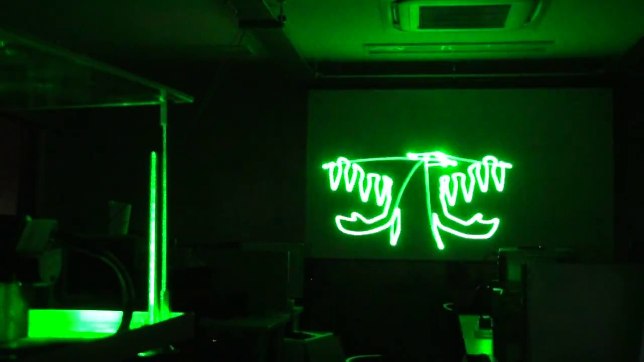 DIY ILDA Laser Projector (Bad Apple!! PV / No Blanking)