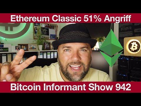 #942 Ethereum Classic Angriffe, 800 Millionen Dollar Bitcoin Umsatz mit Square App & Goldman Sachs