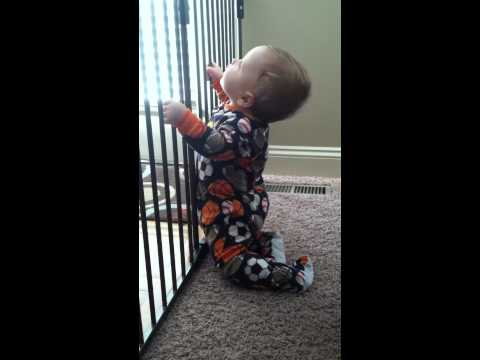 Heston escaping from baby prison