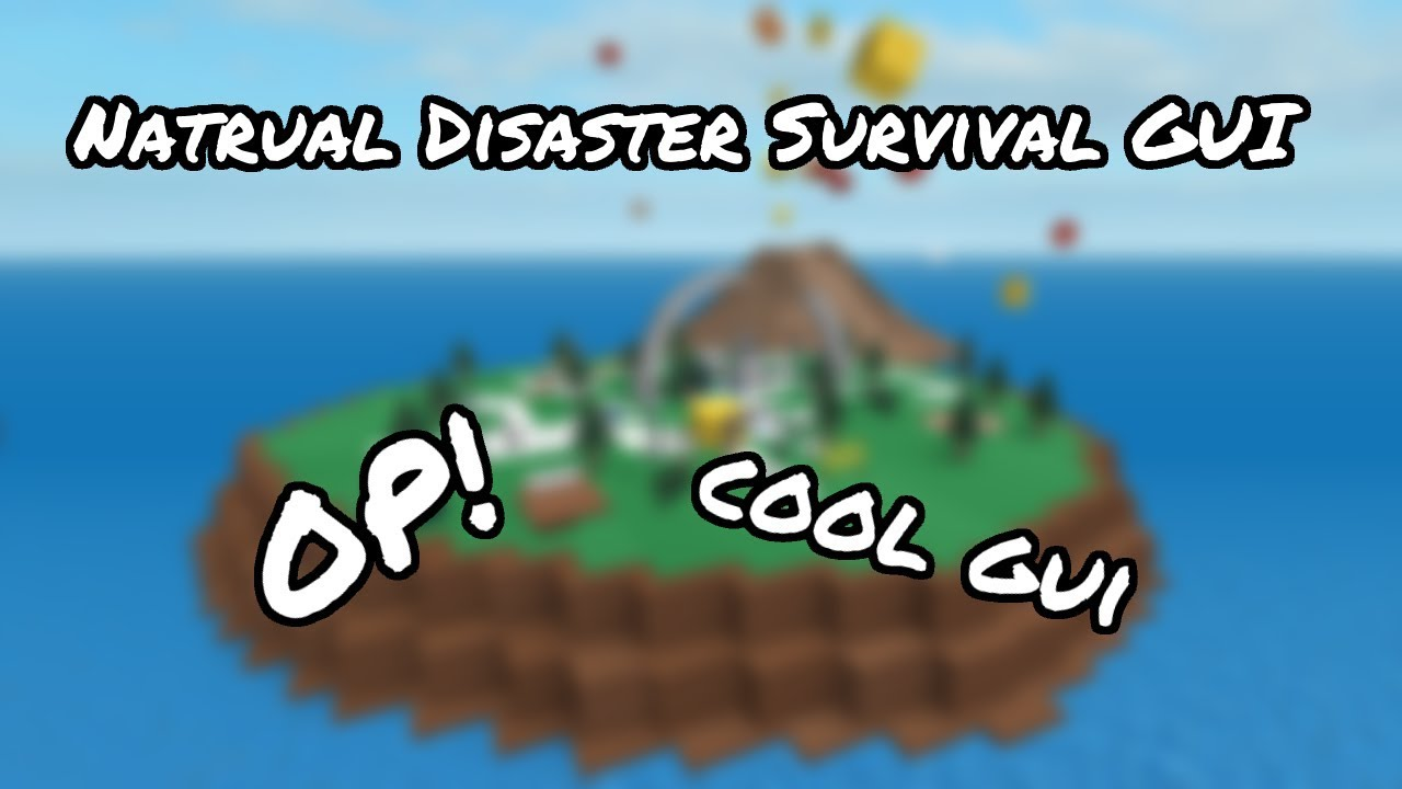 Afk Farm Natural Disaster Survival Gui Roblox Youtube