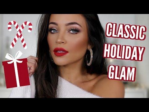 SANTA BABY CLASSIC HOLIDAY GLAM: GLITTER & RED LIPS MAKEUP TUTORIAL 💋 | Stephanie Ledda
