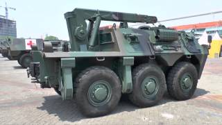 IndoDefence 2014 - PT Pindad Panser Anoa 2 family of APCs