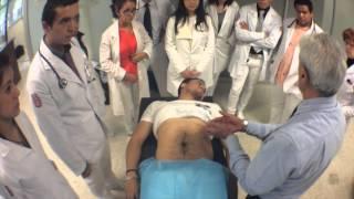 Ejercicio de Exploración de Abdomen por el Dr. Hugo Hernandez. ESM-IPN thumbnail