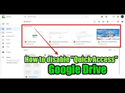 Cara Hilangkan QUICK ACCESS di Google Drive PC/OSX (update 2018)