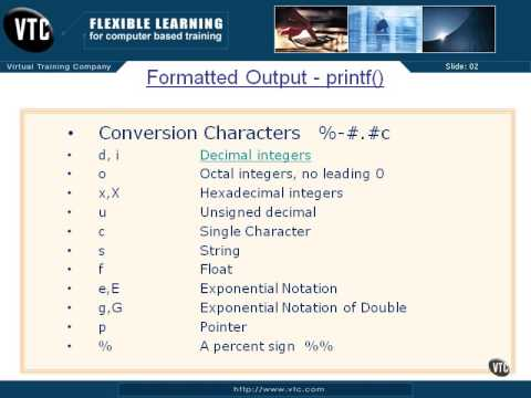 Formatted Output Printf PT2 - 04 - Chapter 08