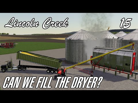 Outpacing the corn dryer as we wrap up our first field of corn - Lincoln Creek Nebraska - Episode 15  