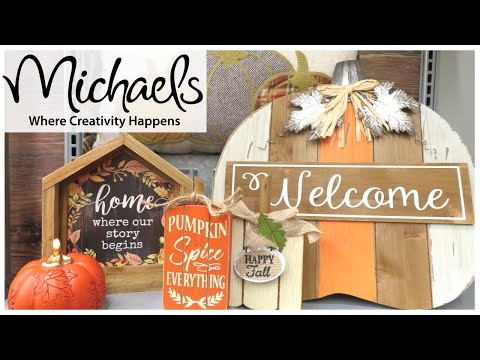 MICHAELS FALL DECOR 2019 | FALL IN JULY DAY 3