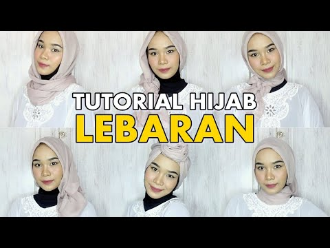 6 STYLE HIJAB UNTUK PAKAI KAFTAN | Tutorial Hijab Segiempat By Amelevans - YouTube