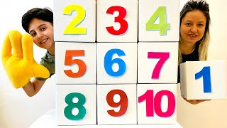 Sado and Mom learn and play & They teach counting from 1 to 10 in an entertaining way