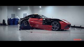 Unique Auto Films - 2015 Ferrari F12 Berlinetta Dragon Fire Vinyl Wrap (Red)