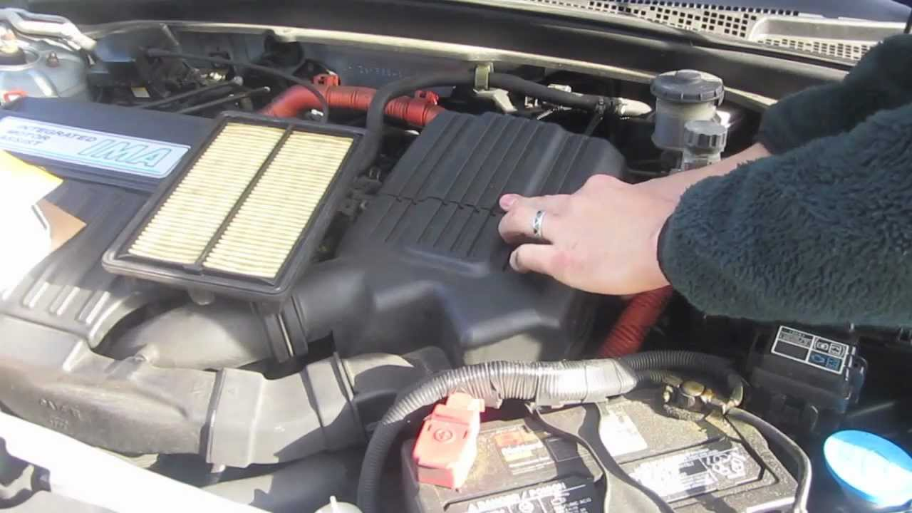 Replacing Air Filter On Gen 1 2004 Honda Civic Hybrid With Wix