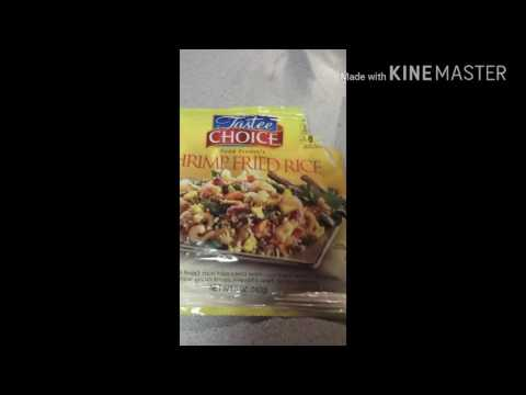 Tastee Choice Shrimp Fried Rice Food Review😞