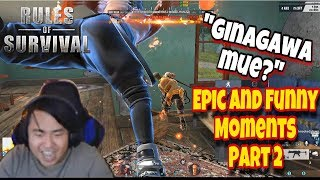 Epic and Funny Moments Part 2. (Unedited Clips) [Rules of Survival #25] (Tagalog)