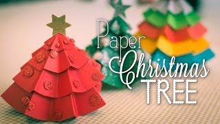 Paper Christmas Tree Centrepieces