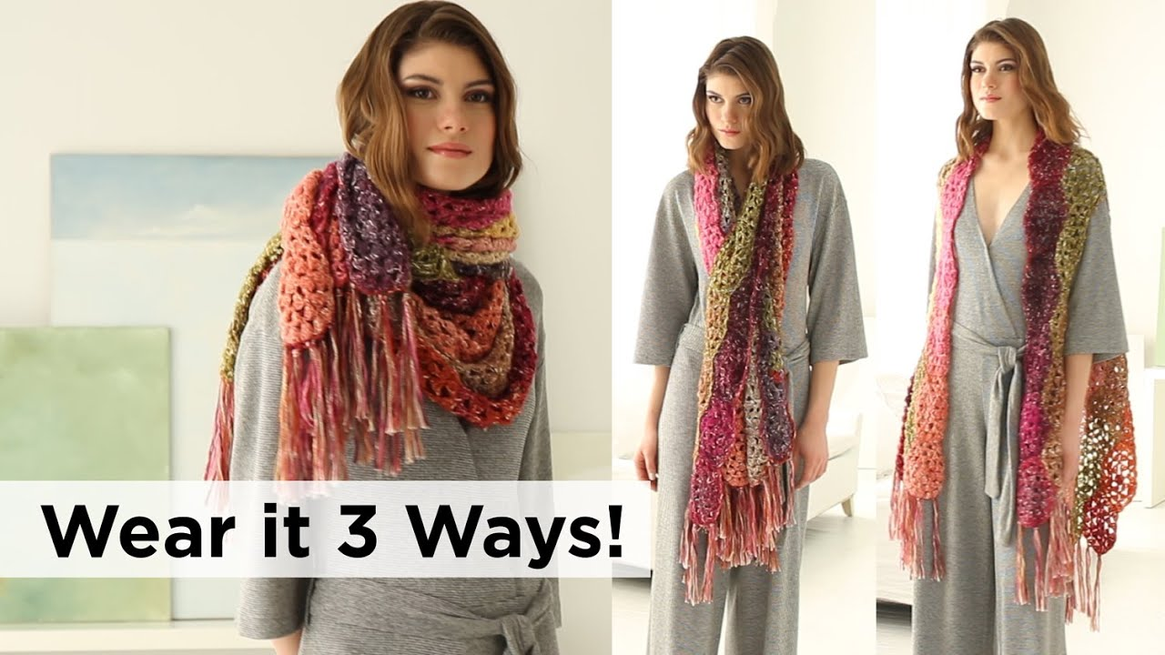 Hexagons Shawl/Vest made with Shawl in a Ball - YouTube
