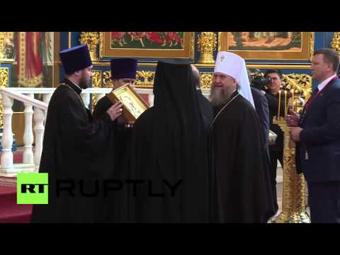 Kazakhstan: Putin visits Russian Orthodox Cathedral in Astana