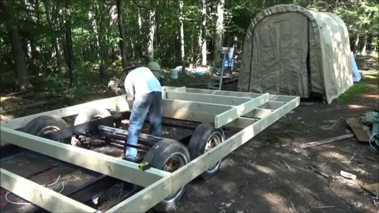 Tiny House Framing related posts Finished Framing The Floor Of My Tiny House On Wheels Youtube