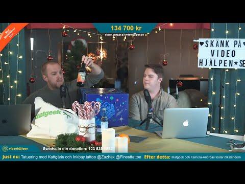 Matgeek och Kamera-Andreas testar Öl-Julkalendern LIVE