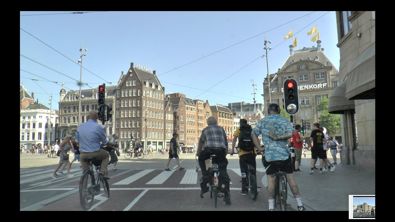 A Drive Downtown Amsterdam - YouTube