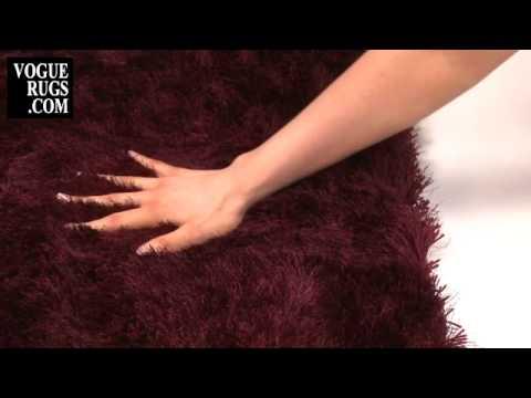 Twilight Plum Shaggy Rug Rugs Vogue International