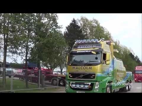 Malcolm group Scania V8 T cab Volvo FH16 Wrecker @ Peterborough truckfest 2015