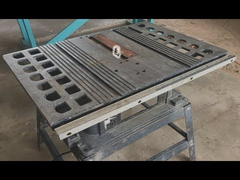 converting a old table saw into a router table how i built my router table youtube. Black Bedroom Furniture Sets. Home Design Ideas