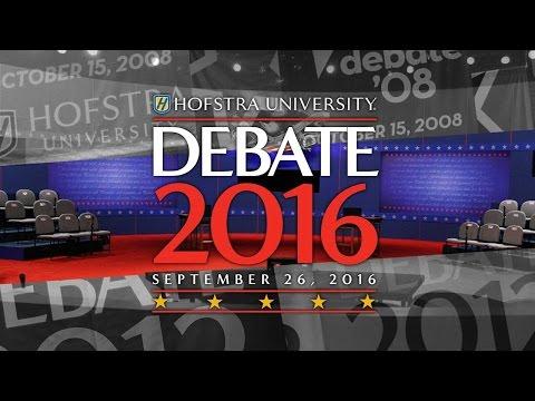 Presidential Debate 2016 at Hofstra University