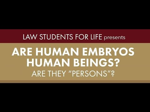 """Are Human Embryos Human Beings? Are They 'Persons'?""—Dr. Robert P. George—Lecture at HLS"