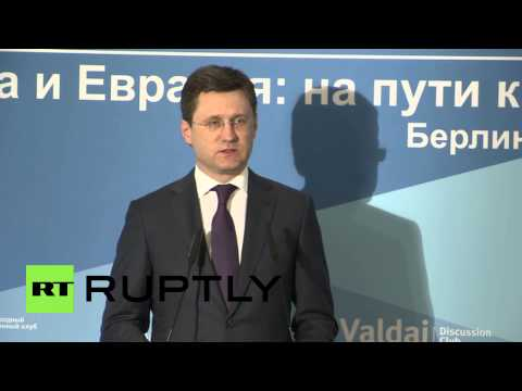 Germany: Russia to work on ensuring energy security in Eurasia - energy minister
