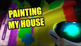 PAINTING MY HOUSE - Hello Neighbor Paint Gun Mod