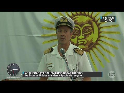 Marinha argentina nega que submarino desaparecido tenha sido atacado | SBT Brasil (25/11/17)