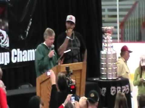 Dustin Byfuglien's Stanley Cup Ceremony in Roseau, MN