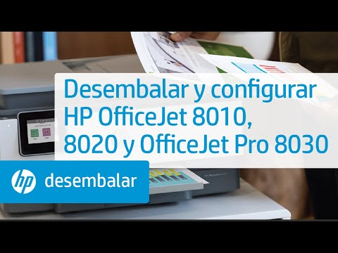Desembalar y configurar impresoras HP OfficeJet 8010, 8020 y OfficeJet Pro 8030 | HP OfficeJet | HP