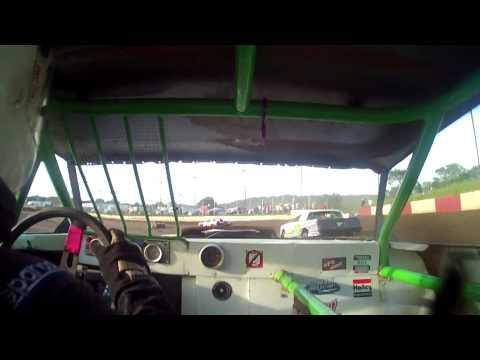 8.1.15----Peoria Speedway-----Street Stock Heat Race---in car