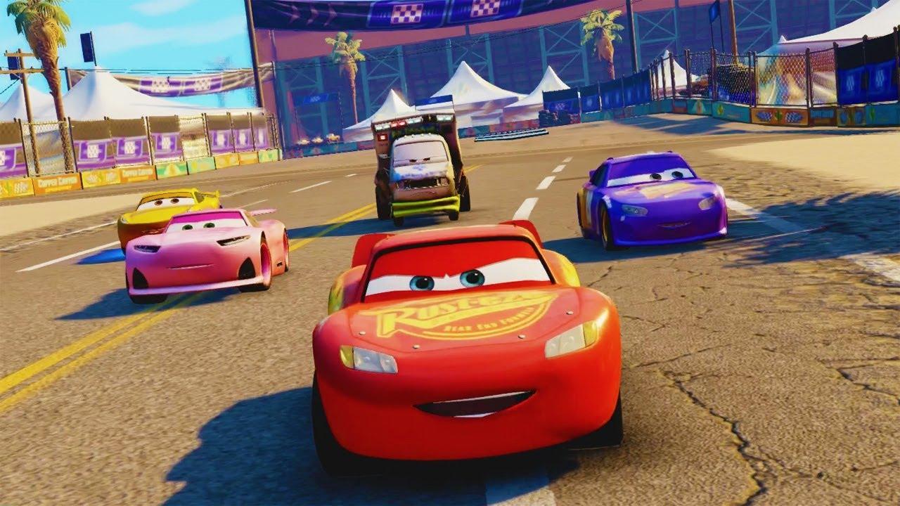 Cars 3 Movie Game Walkthrough Part 1 Lightning Mcqueen