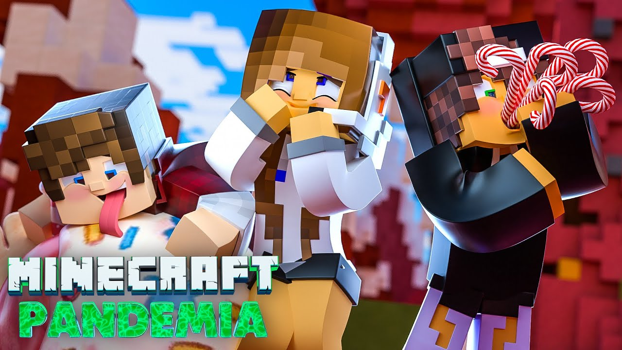 Minecraft PANDEMIA - EP 11   FOMOS PARA O MUNDO DOCE!