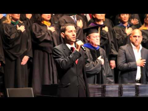 David McCoul Sings the National Anthem at the 2013 Stanbridge College Graduation