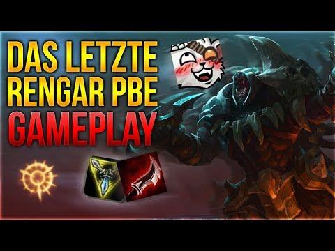 Das Letzte RENGAR PBE Gameplay [League of Legends] [Deutsch / German]